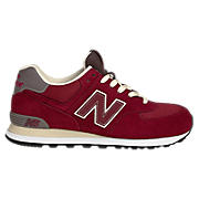 New Balance 574, Maroon with Dark Taupe