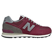 80s Running 574, Burgundy with Grey