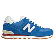 70s Running 574, Classic Blue with Red & White