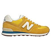 70s Running 574, Yellow with White & Teal