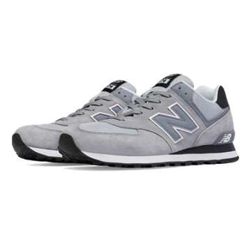 New Balance 574 Core Plus, Steel with Black