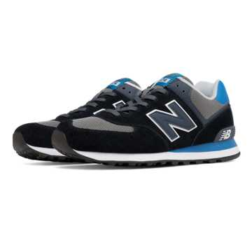 New Balance 574 Core Plus, Black with Blue & Grey