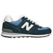70s Running 574, Navy with White & Carolina Blue