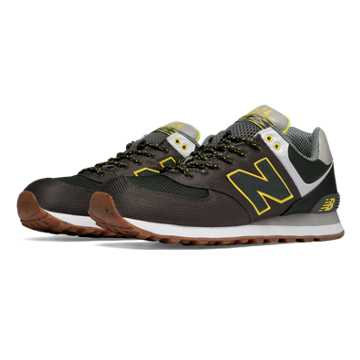 New Balance 574 Weekend Expedition, Camo Green with Rifle Green & Viper Yellow