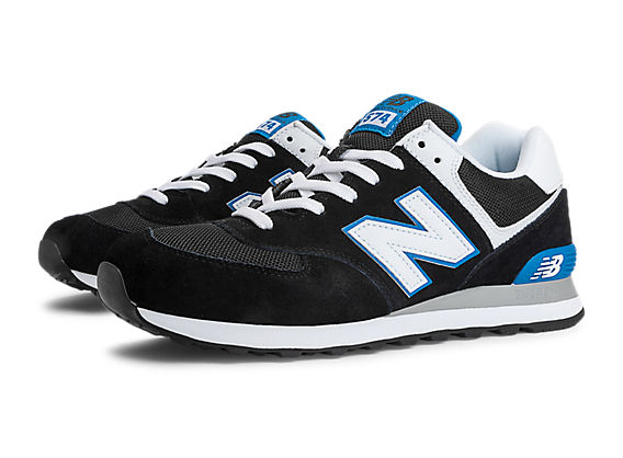 new balance 574 black and blue