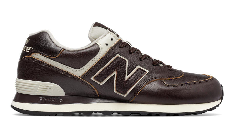 brown leather new balance 574