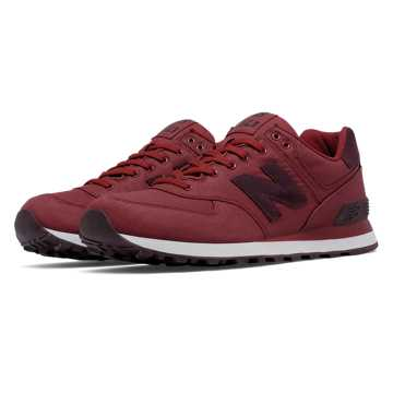 New Balance 574 Waxed Canvas, Biking Red