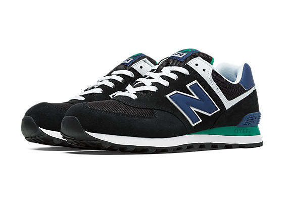 new balance 574 black and green