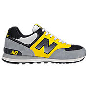 90s Running 574, Grey with Yellow & Black