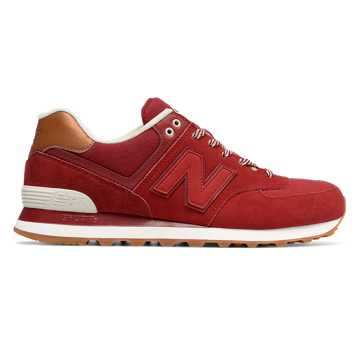 New Balance 574 Collegiate, Crimson with Red & Powder