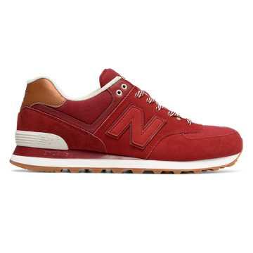 New Balance 574 Collegiate, Crimson with Red & Powder