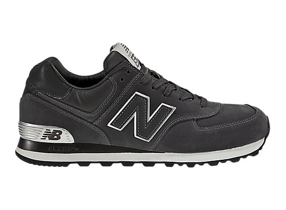 New Balance 574, Dark Grey with Silver