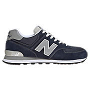 New Balance 574, Navy with Grey & White