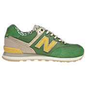New Balance 574-, Green with Tan & Yellow