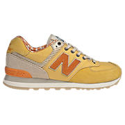 New Balance 574-, Yellow with Orange