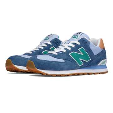 New Balance 574 Premium Cruisin, Lagoon with Cornflower
