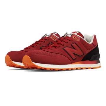 New Balance 574 Gradient, Red with Black & Orange