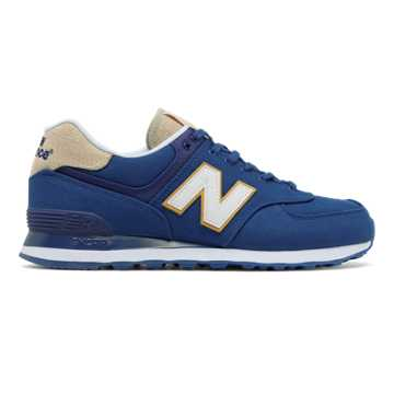 New Balance 574 Retro Surf, Atlantic with White