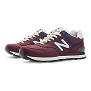 Rugby 574, Burgundy with Navy & Ivory