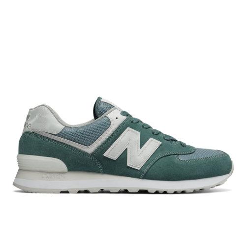 574 New Balance Men's 574 Shoes - Green/Grey/White (ML574SEG) ML574SEG