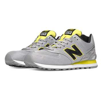 New Balance 574 Summer Waves, Light Grey with Yellow