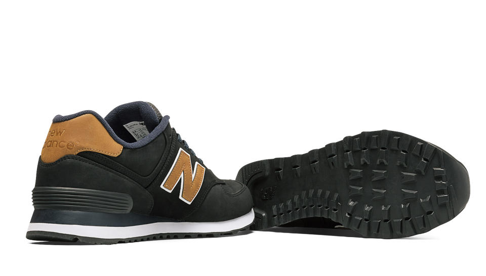 new balance ml574 black tan