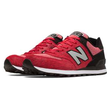 New Balance 574 Sweatshirt, Red with Black