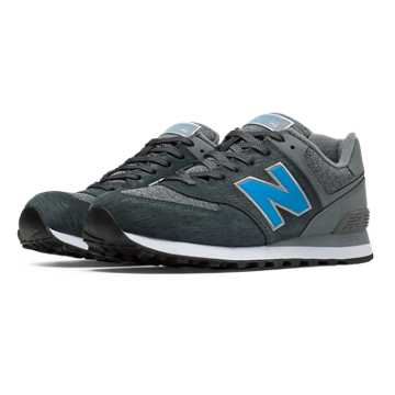 New Balance 574 Sweatshirt, Dark Grey with Grey & Blithe