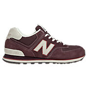 New Balance 574, Burgundy with Grey