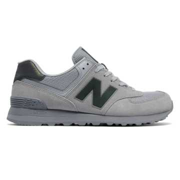 grey and blue new balance 574