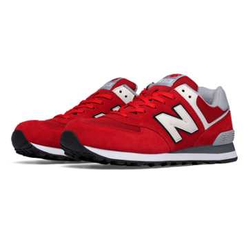New Balance 574 Varsity, Red with White