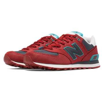 New Balance 574 Winter Harbor, Chili Pepper with Grey & Bolt