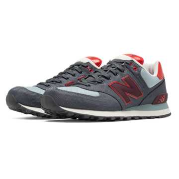 New Balance 574 Winter Harbor, Grey with Red & Light Grey