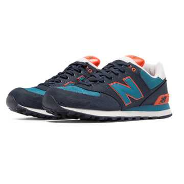 New Balance 574 Winter Harbor, Pigment with Orange & Bolt