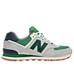 Yacht Club 574, Grey with Green & Navy
