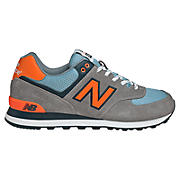 Yacht Club 574, Grey with Orange & Blue