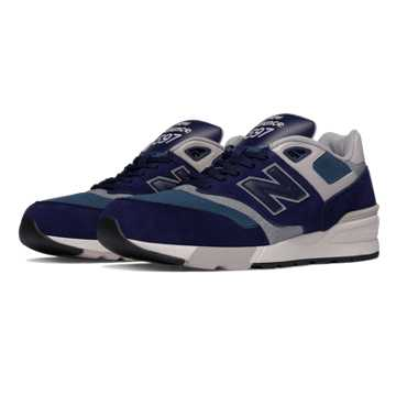 New Balance 597 New Balance, Blue Black with Orion Blue & Grey