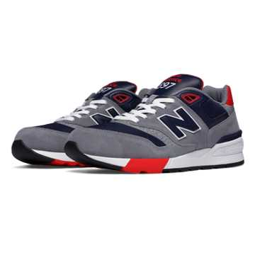 New Balance 597 New Balance, Grey with Blue Black & Red