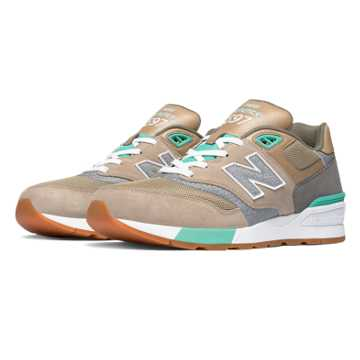 New Balance 597 90s Traditional, Beach Sand with Teal