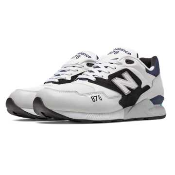 New Balance 878 90s Running, White with Black