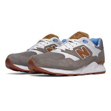 New Balance 878 90s Running, Grey with White