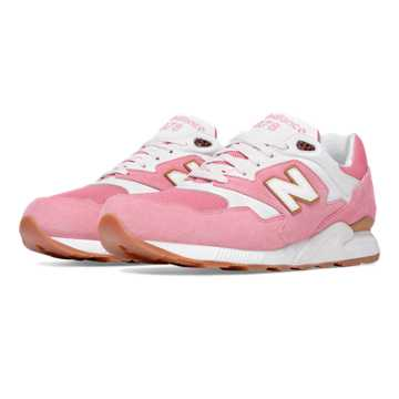 New Balance 878 Restomod, Mineral Pink with White