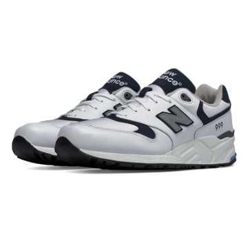 New Balance 999 90s Running, White with Navy