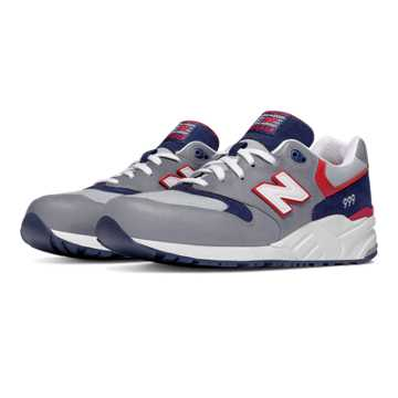 New Balance 999 Elite Edition Lost Worlds, Grey with Navy & Dark Red