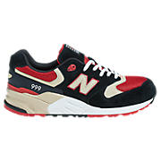 New Balance 999, Black with Red & Cream