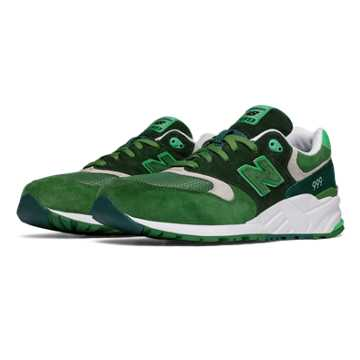 New Balance 999 Elite Edition Paper Lights, Dark Green with Spring Green