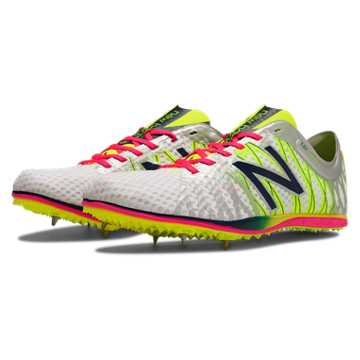 New Balance LD5000v2 Spike, Silver with Chemical Green & Bright Cherry