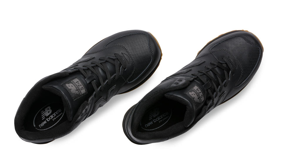 new balance full leather black 574