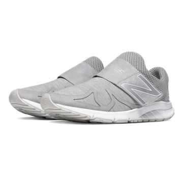 New Balance Vazee Rush Sweatshirt, Light Grey with White