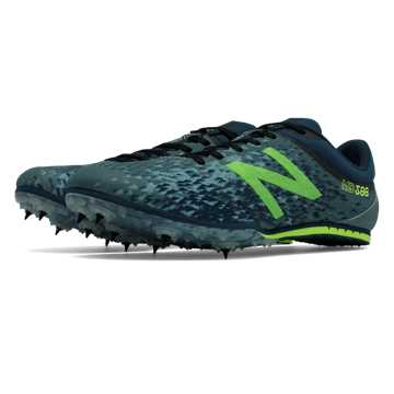 New Balance MD500v5 Spike, Dark Grey with Toxic